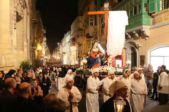 PROCESSION WITH THE STATUE OF OUR LADY OF SORROWS